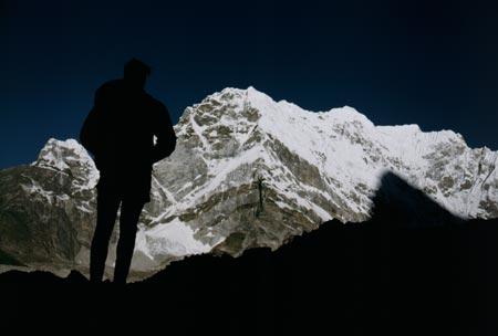 Lone climber
