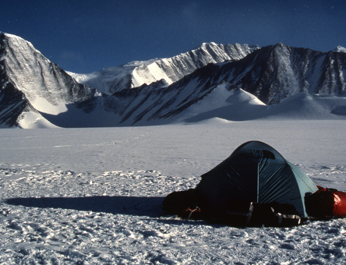 Camp at Vinson Massif